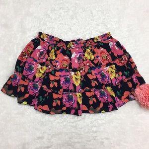 ➕ Floral Print Mini Skirt : D